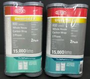 Lot Of 2 Packages Of Dupont 800 Series Whole House Carbon Wrap Water Filters New