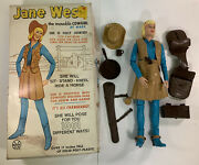 Vintage Marx Johnny West Jane Figure W/ Top Box Lid And Accessories