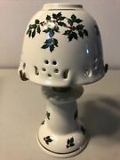 New Formalities By Baum Brothers Holly Collection Two Piece Candle Lamp X-mas