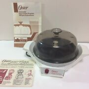 Vintage Oster Automatic Egg Cooker Poacher Electric 580-18b Hard + Soft Boiled