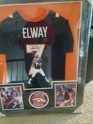John Elway Authenticated Jersey Hand Painted 6/7 Signed Jsa
