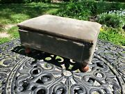 Vintage Storage Ottoman Foot Stool Sewing Box With Contents Vintage Accessories