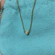 And Co. 18k Diamond By The Yard Pendant Chain Necklace M28282528531 W/box