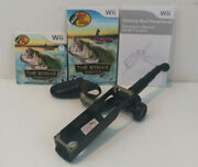 Wii Bass Pro Shops The Stike Game Tournament Edition W/ Manual And Wii Fishing Rod