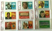 1964 Topps Cfl Football Complete 88 Card Set All Psa Graded - Extremely Rare