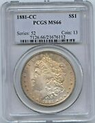 1881 Cc Morgan Dollar -pcgs Ms 66 - Carson City Silver Dollar