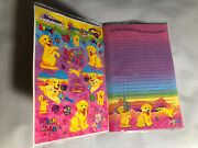 Vintage Lisa Frank Writing Book Paper Stickers Sealed Dog Puppy Casey Caymus Htf