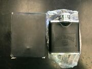 Jack Daniels Old No 7 Stainless And Leather Hip Flask New