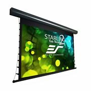 New Elitescreens Tab-tensioned Front Motorized Home Theater Projection Black