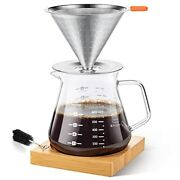 Pour Over Coffee Maker With Slow Drip Coffee Filter And 4 Cup Coffee 4 Cup