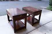 Pair Of Antique Chinese Side Tables Freshly Cleaned And Polished