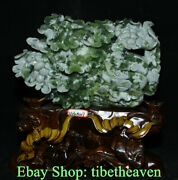 13.2 Chinese Natural Xiu Jade Carving Feng Shui Cabbage Wealth Luck Ornaments