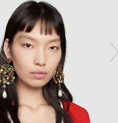 Authentic Hard Too Find Dragon Gg Earrings