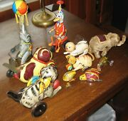 9 Collection Ten Tin Litho And Wind Up Toys All For One Price