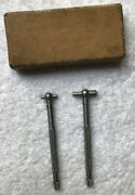 Two Vintage Lufkin Telescoping Gages With Box Machinist Tools
