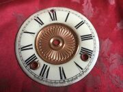 Porcelain Enamel Clock Movement Dial From An Ansonia Clock Good Condition