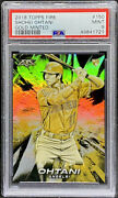 Shohei Ohtani 2018 Topps Fire Gold Minted Rookie Rc 150 Angels Psa 9 Pop 4