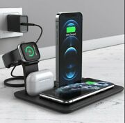 Qi Fast 5 In 1 Wireless Charger Stand For Iphone 1211 Xr X Apple Watch Air Pod