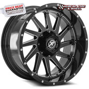 Xf Offroad Xf-216 20x9 8x180 0mm Gloss Black Milled+chrome Rivets 20 1 Wheel