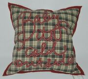 Pottery Barn Baby Itand039s Cold Outside Plaid Pillow Cover And Insert Winter Christmas