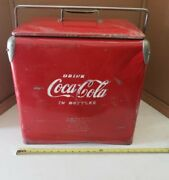 Vintage 1950s Drink Coca-cola In Bottles Cooler By Acton W/bottle Opener And Drain