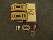 Vietnam War Army Airborne Captain Straps- Sterling Pinparatrooper+company Medal