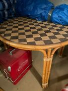 Donghia Rattan Round Dining Table