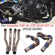 Motorcycle Titanium Exhaust System Front Link Pipe Slip For Yamaha R1 2015-2020