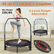 Foldable Trampoline Adjustable 40-inch Kids Adults Indoor Outdoor Bounce Fitness