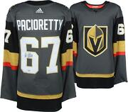 Max Pacioretty Vegas Golden Knights Autographed Black Adidas Authentic Jersey