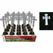 Solaris Acrylic Cross 34 In. H. Solar Stake Light Lawn Ornament Sot162bb Pack