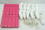 Fully Tested Lot 20 Nintendo Wii Remote Plus Controller Pink W/ Nunchuck 3882