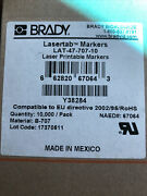 Brady Lat-47-707-10/ Lat4770710 New Open Package Lot Of 100 Sheets 10,000 Labels