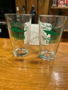 Dogfish Head Craft Brewed Ales Collectible Pint Glasses Set Of 2 New