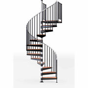 Reroute 36h Platform Rail Spiral Stair Kit 60 Dia 11-1/4and039h Steel Treads