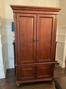 Bar Livingston Vintage Armoire Showcase Piece Mirror Pull Out Shelf, Well Built