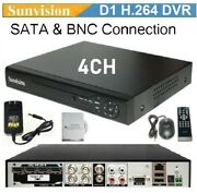 Sunvision Cctv 4ch H.264 Full D1 Cloud Based Dvr, No Hdd For All Analog Cameras