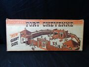 Vintage Fort Cheyenne Playset No. 846 T. Cohn Inc. Cowboys, Soliders, Horse