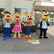 Deer Mascot Costume Suits Halloween Cosplay Party Game Dress Outfits Adults Xmas