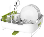 Zova Premium Stainless Steel Dish Drying Rack With Swivel Spout Dish Drainer