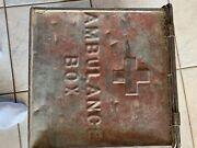 Andnbspwwi Metal Ambulance Box - Med Dept Usa - Red Cross - Union Made Label