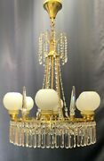 Very Rare Large Antique Crystal Chandelier 1900s