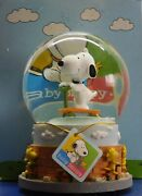 Peanuts Snoopy Woodstock Baby Snoopy Westland Musical Globe Hard To Find