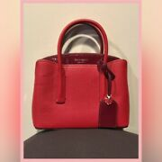 New In Dustbag Kate Spade Margaux Mini Leather Rosewood Pink Satchel Purse Bag