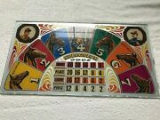 1936 Bally Preakness Horserace Game One Ball Payout Pinball Backglass More