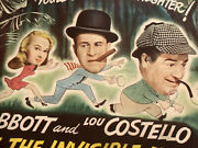 Abbott And Costello Meet The Invisible Man Lobby Card Movie Poster 1951 Title