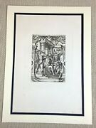 1890 Antique Engraving Hans Holbein The Passion Jesus Christ Crown Of Thorns