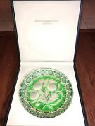 Stunning Limited Edition Royal Germania Crystal Plate Green,new Open Box