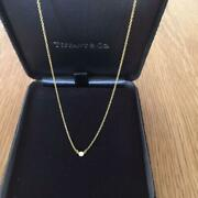And Co. By The Yard Diamond Yg 750 Engraved Pendant Necklace M97682597473