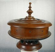 Beautiful Vintage Wooden Thread Storage Box Sewing Collectible Treenware